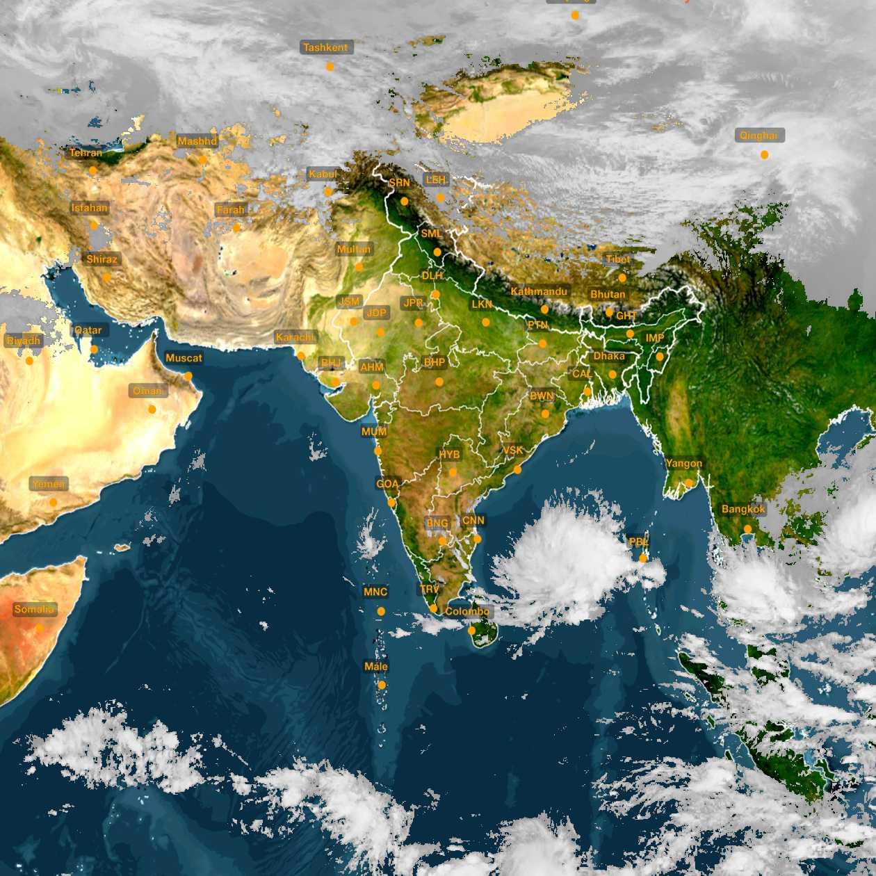 <b style='padding-left:57px;'>14:00</b><br>Satellite Images of India <br>for 30 November 2020