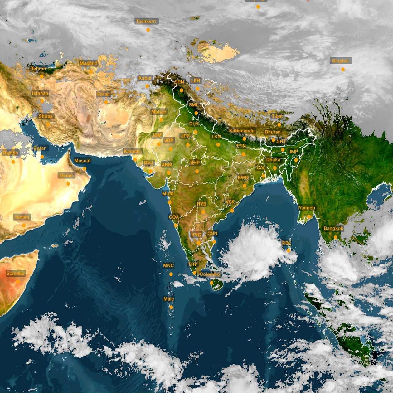 <b style='padding-left:57px;'>15:00</b><br>Satellite Images of India <br>for 30 November 2020