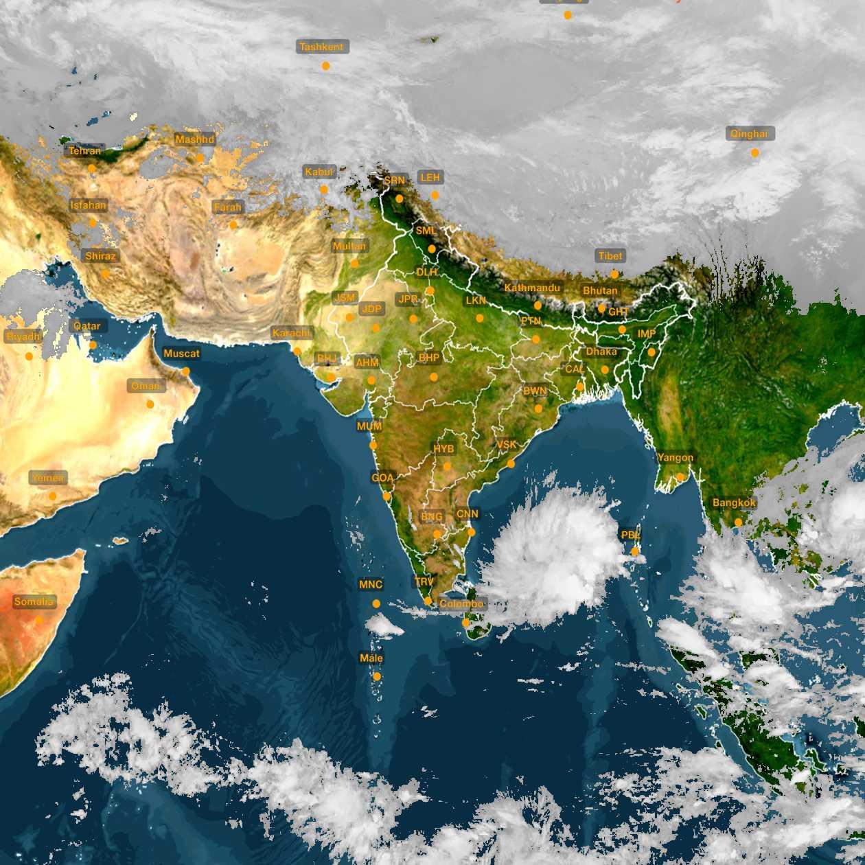 <b style='padding-left:57px;'>17:30</b><br>Satellite Images of India <br>for 30 November 2020