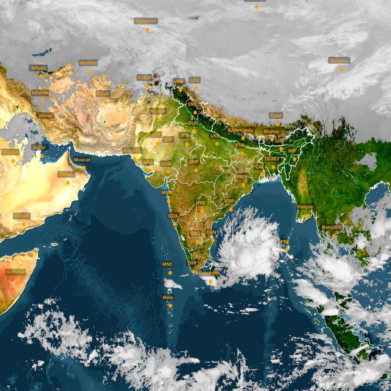 <b style='padding-left:57px;'>20:30</b><br>Satellite Images of India <br>for 30 November 2020