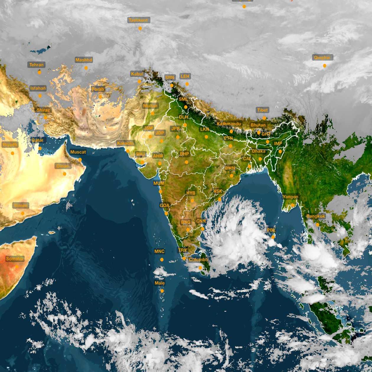 <b style='padding-left:57px;'>22:30</b><br>Satellite Images of India <br>for 30 November 2020