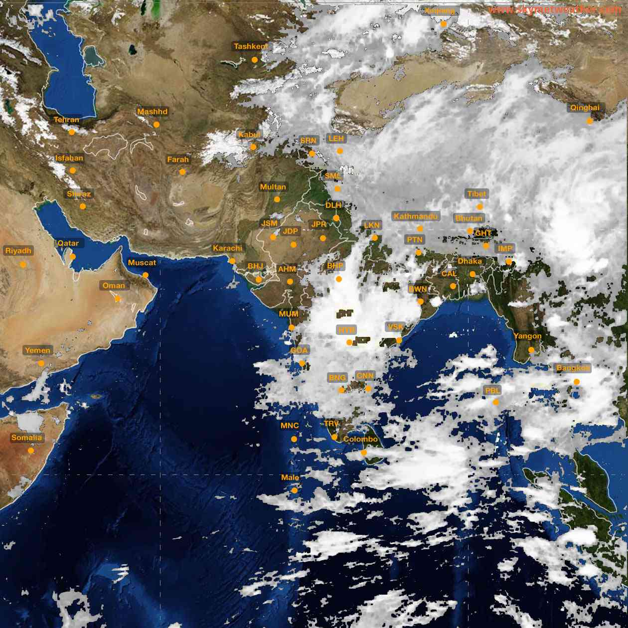 <b style='padding-left:57px;'>00:00</b><br>Satellite Images of India <br>for 25 June 2021