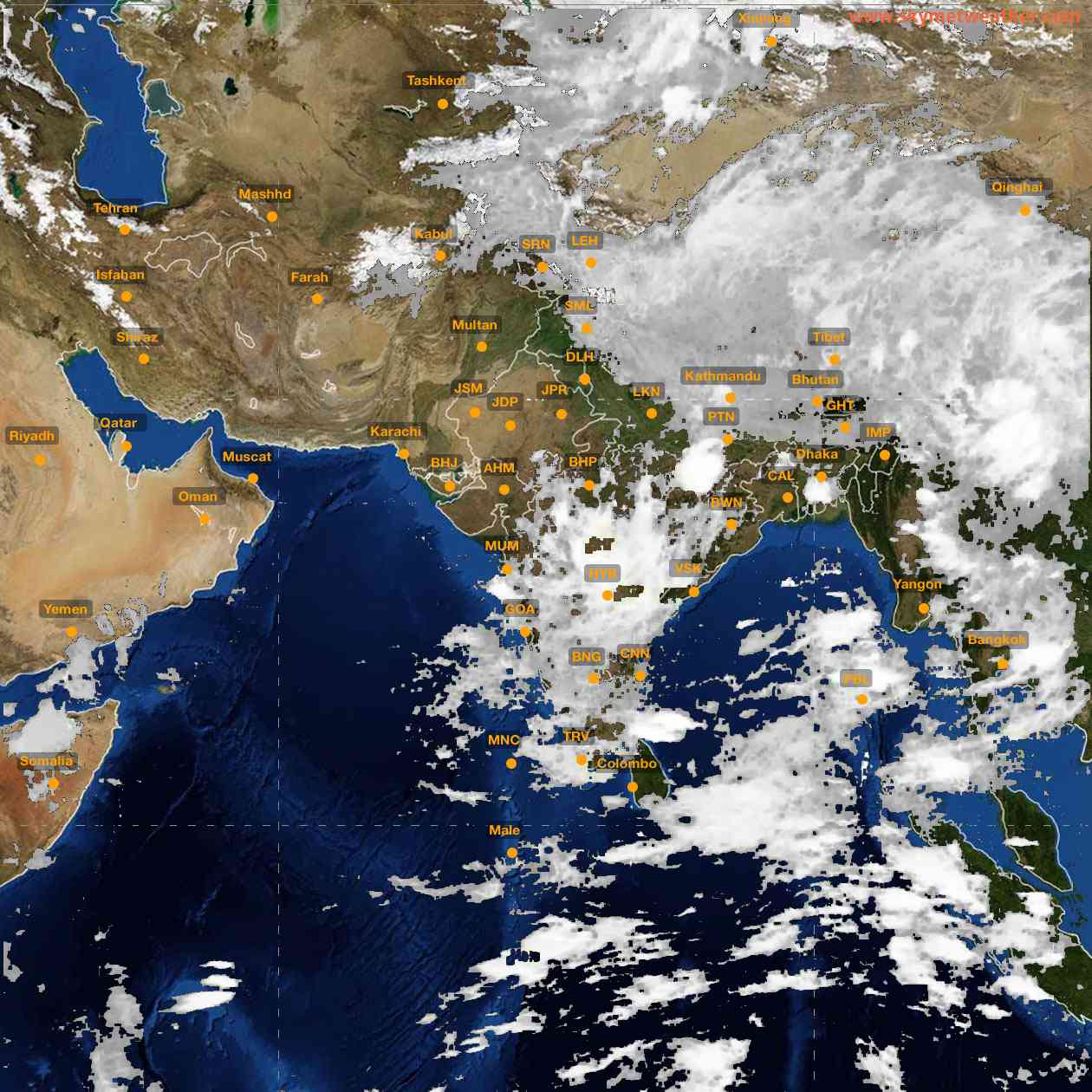 <b style='padding-left:57px;'>04:00</b><br>Satellite Images of India <br>for 25 June 2021