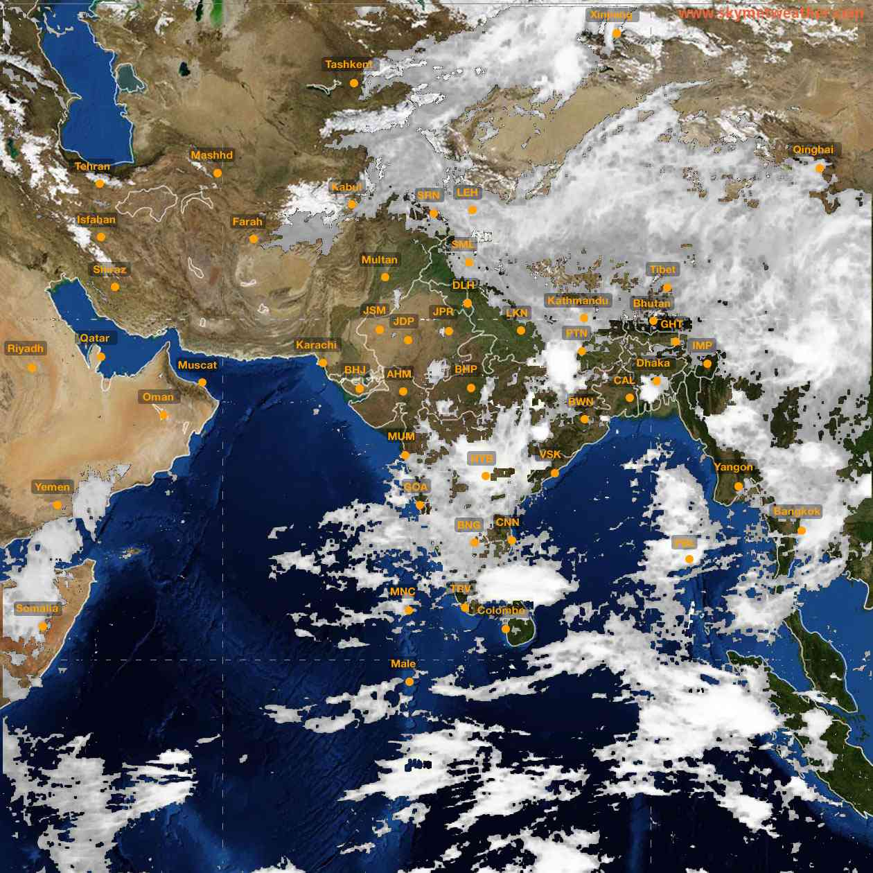 <b style='padding-left:57px;'>07:00</b><br>Satellite Images of India <br>for 25 June 2021