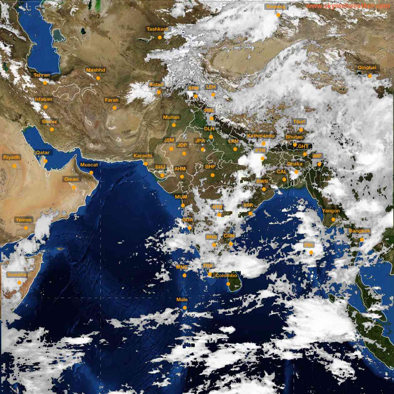 <b style='padding-left:57px;'>09:00</b><br>Satellite Images of India <br>for 25 June 2021