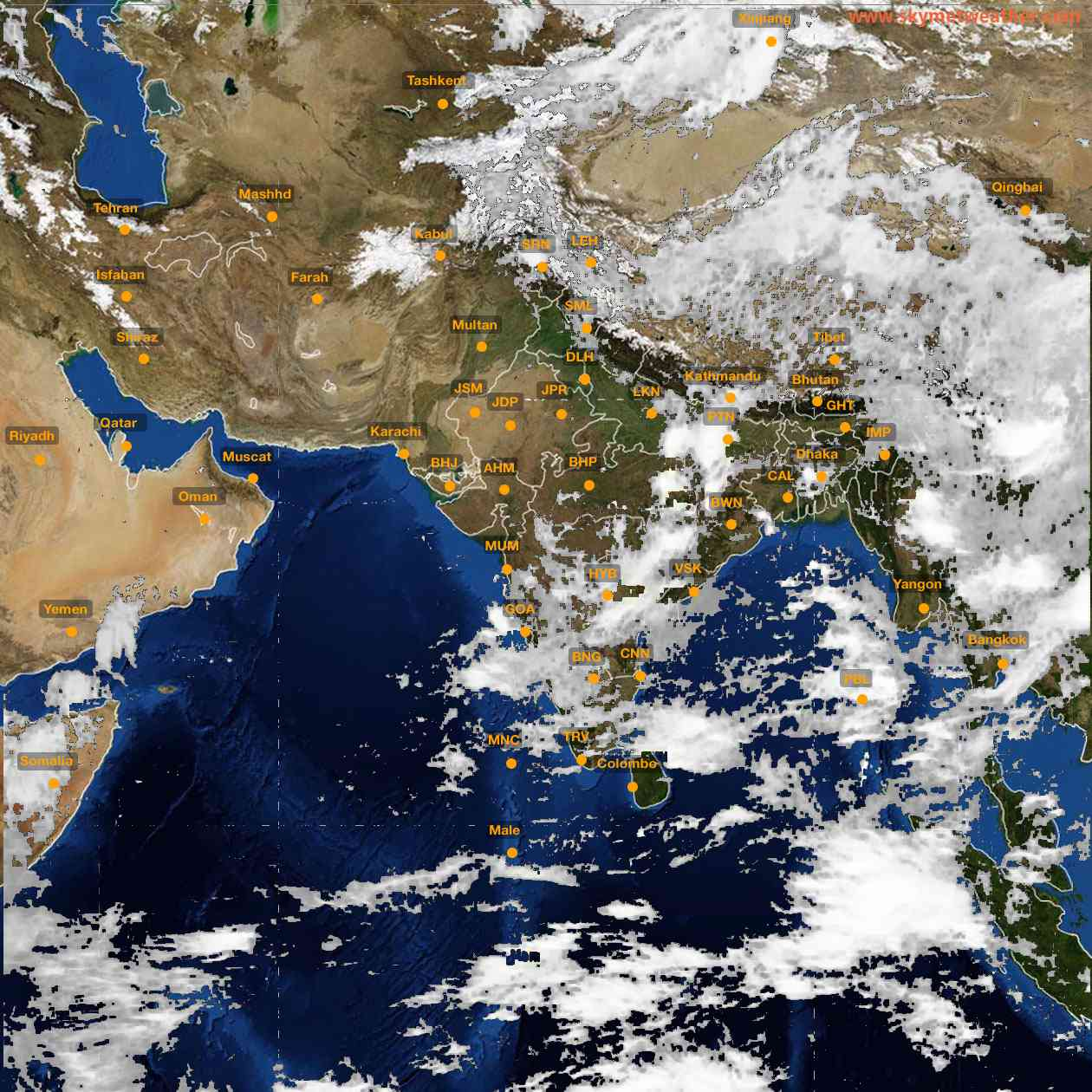 <b style='padding-left:57px;'>10:00</b><br>Satellite Images of India <br>for 25 June 2021