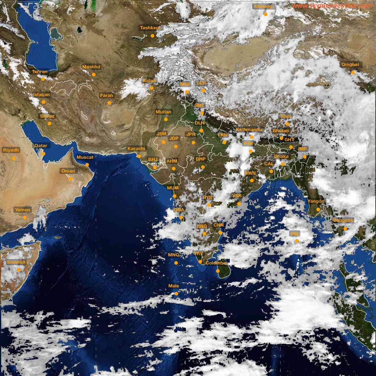 <b style='padding-left:57px;'>11:00</b><br>Satellite Images of India <br>for 25 June 2021