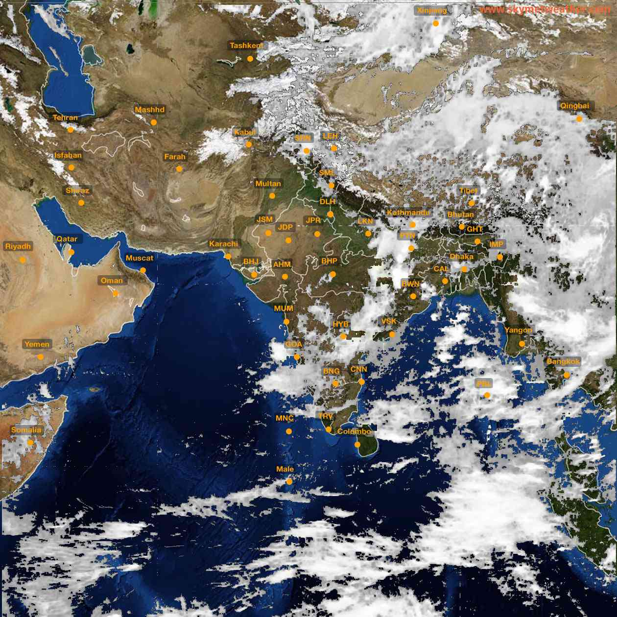 <b style='padding-left:57px;'>12:00</b><br>Satellite Images of India <br>for 25 June 2021