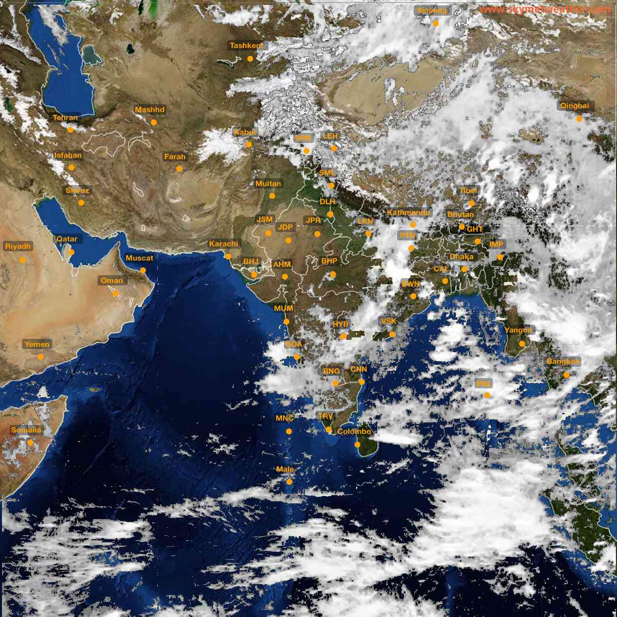 <b style='padding-left:57px;'>13:00</b><br>Satellite Images of India <br>for 25 June 2021
