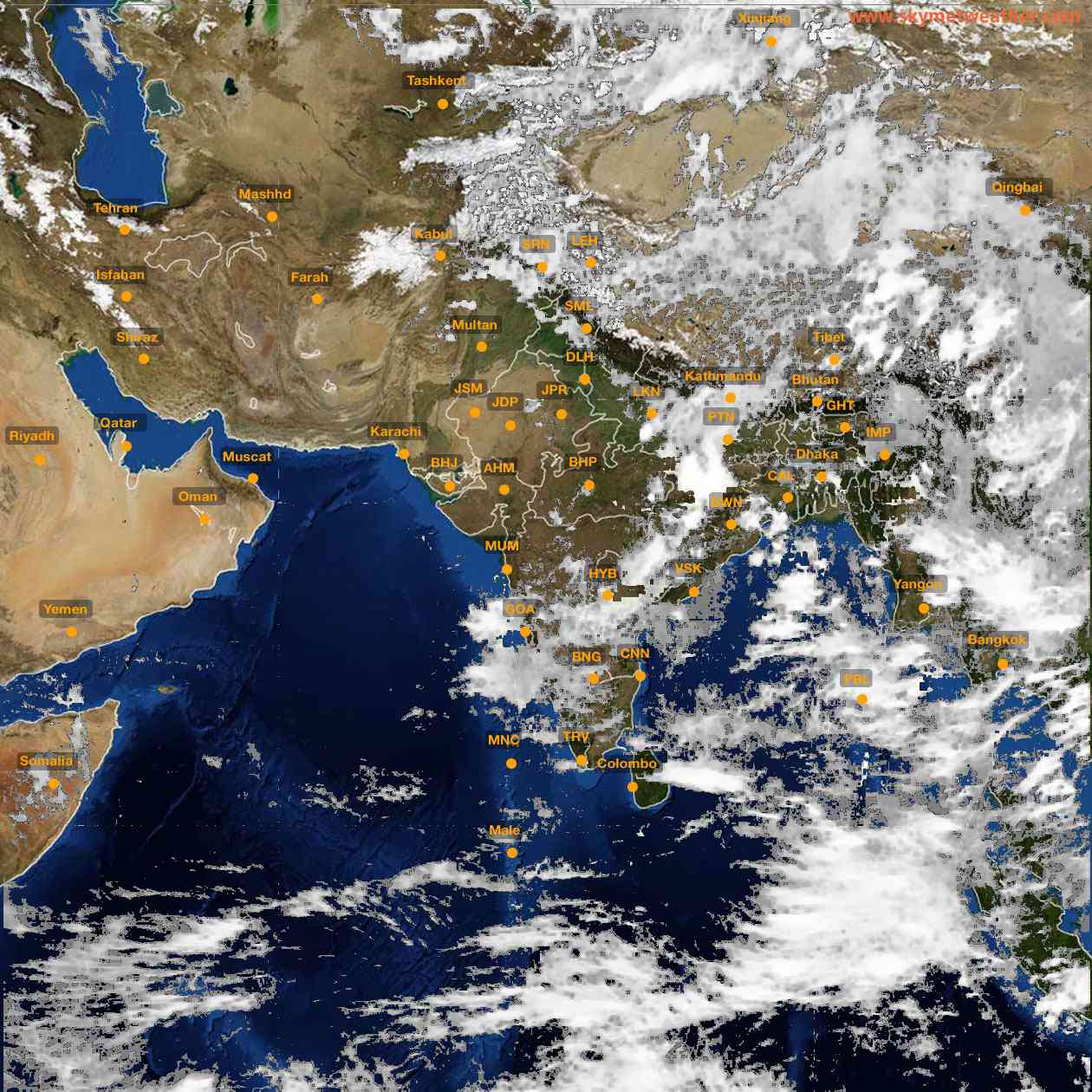 <b style='padding-left:57px;'>14:00</b><br>Satellite Images of India <br>for 25 June 2021