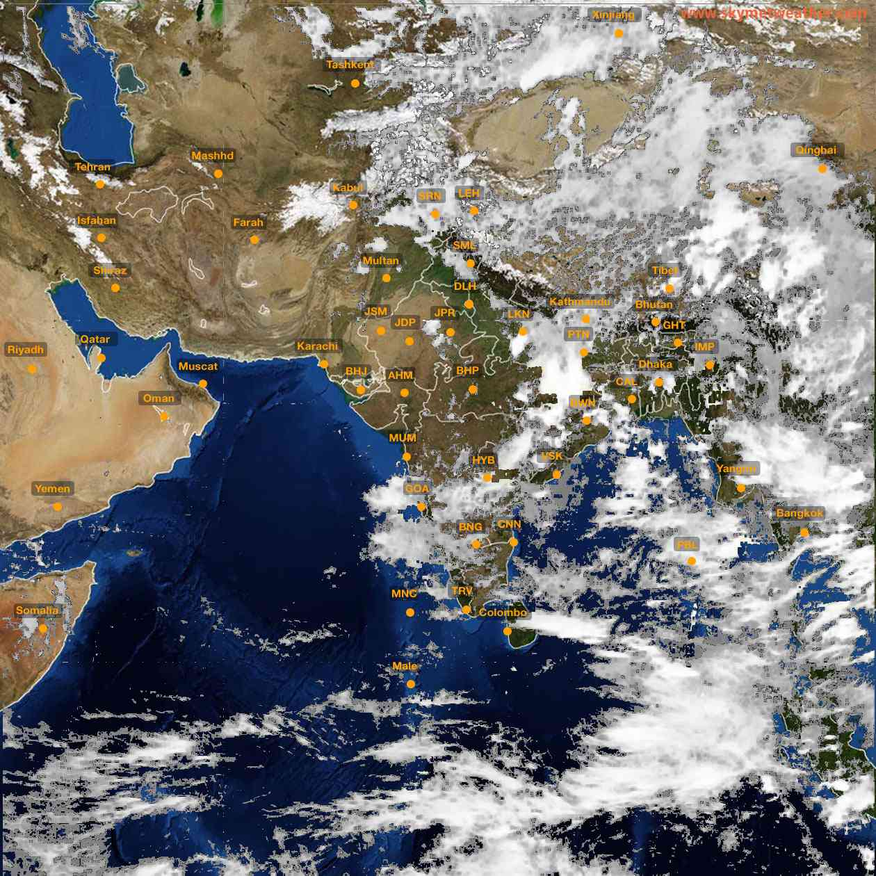<b style='padding-left:57px;'>15:00</b><br>Satellite Images of India <br>for 25 June 2021