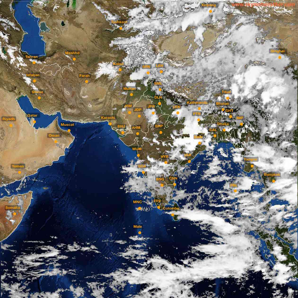 <b style='padding-left:57px;'>17:00</b><br>Satellite Images of India <br>for 25 June 2021