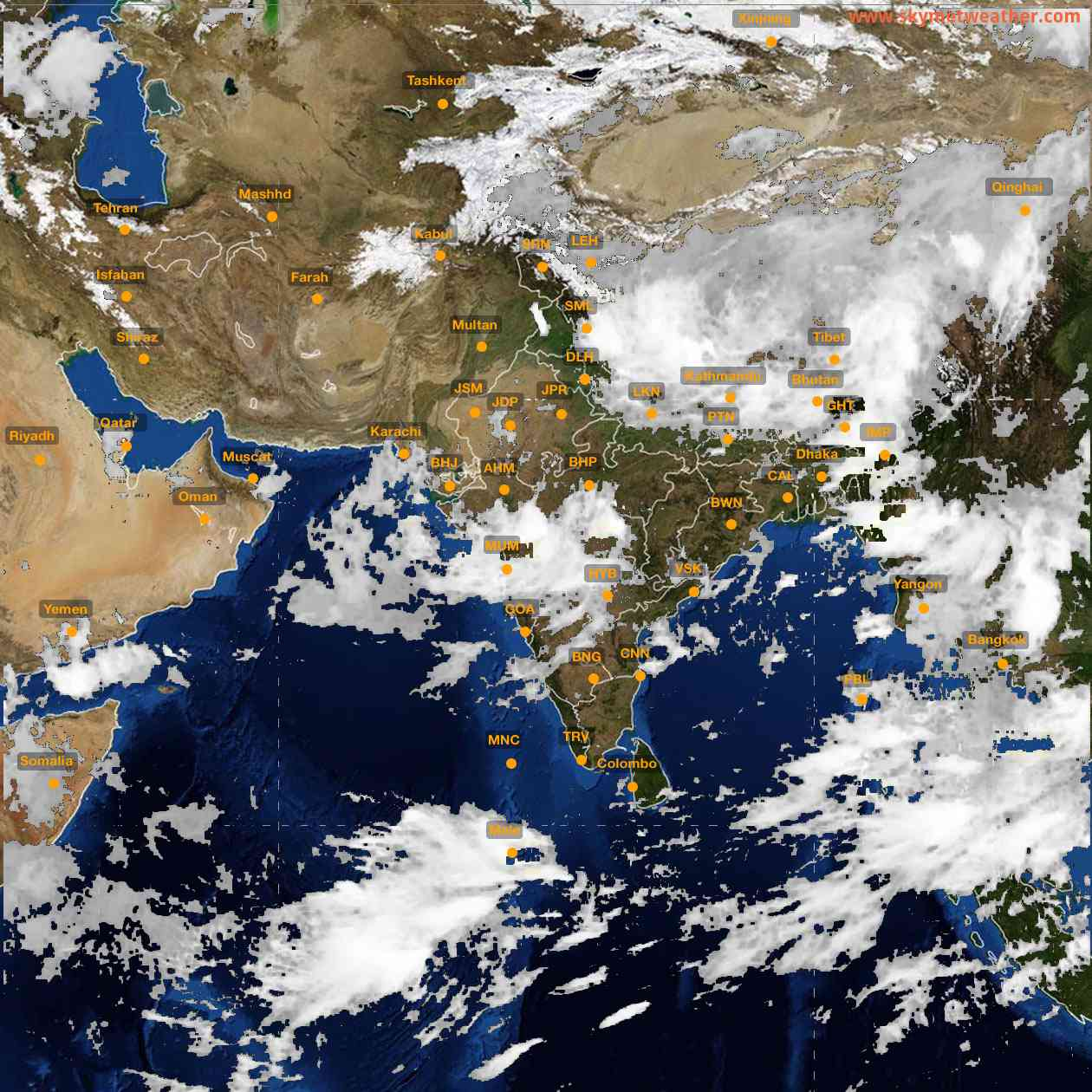 <b style='padding-left:57px;'>03:00</b><br>Satellite Images of India <br>for 25 July 2021