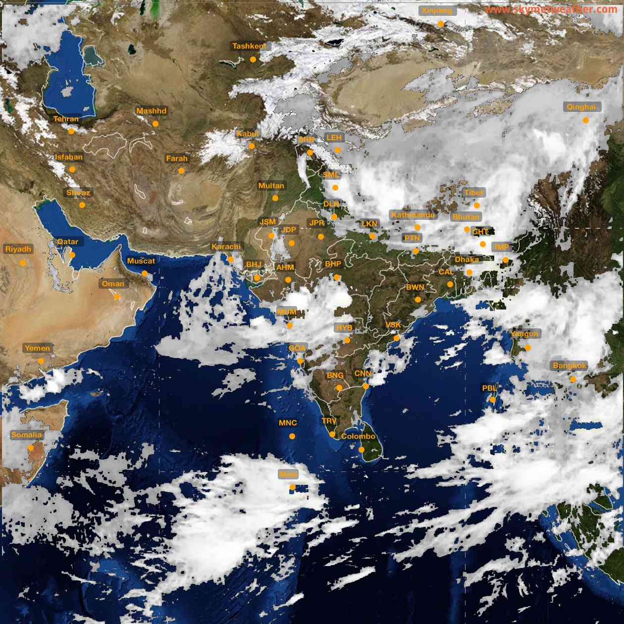 <b style='padding-left:57px;'>05:00</b><br>Satellite Images of India <br>for 25 July 2021