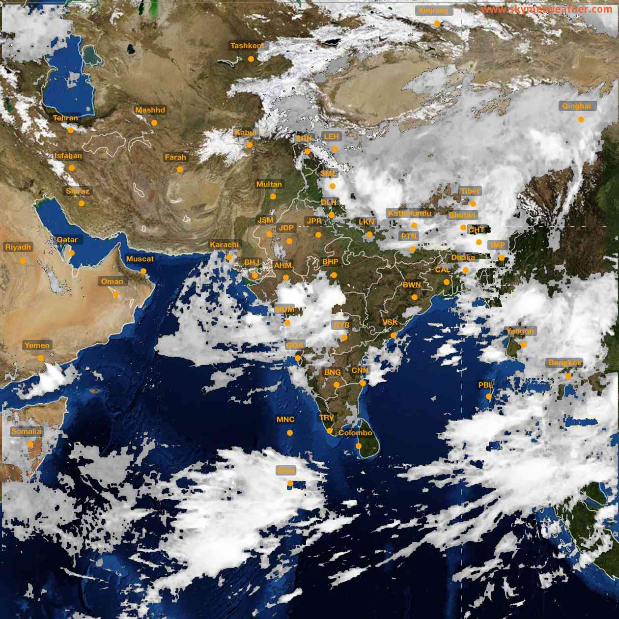 <b style='padding-left:57px;'>06:00</b><br>Satellite Images of India <br>for 25 July 2021