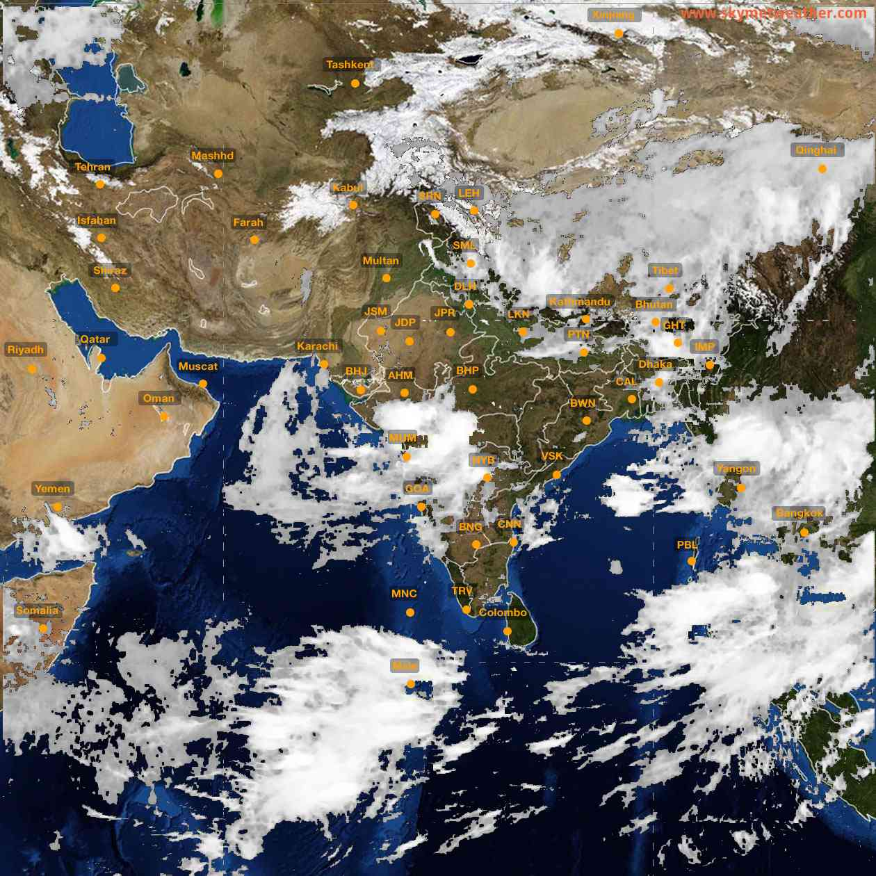 <b style='padding-left:57px;'>08:00</b><br>Satellite Images of India <br>for 25 July 2021
