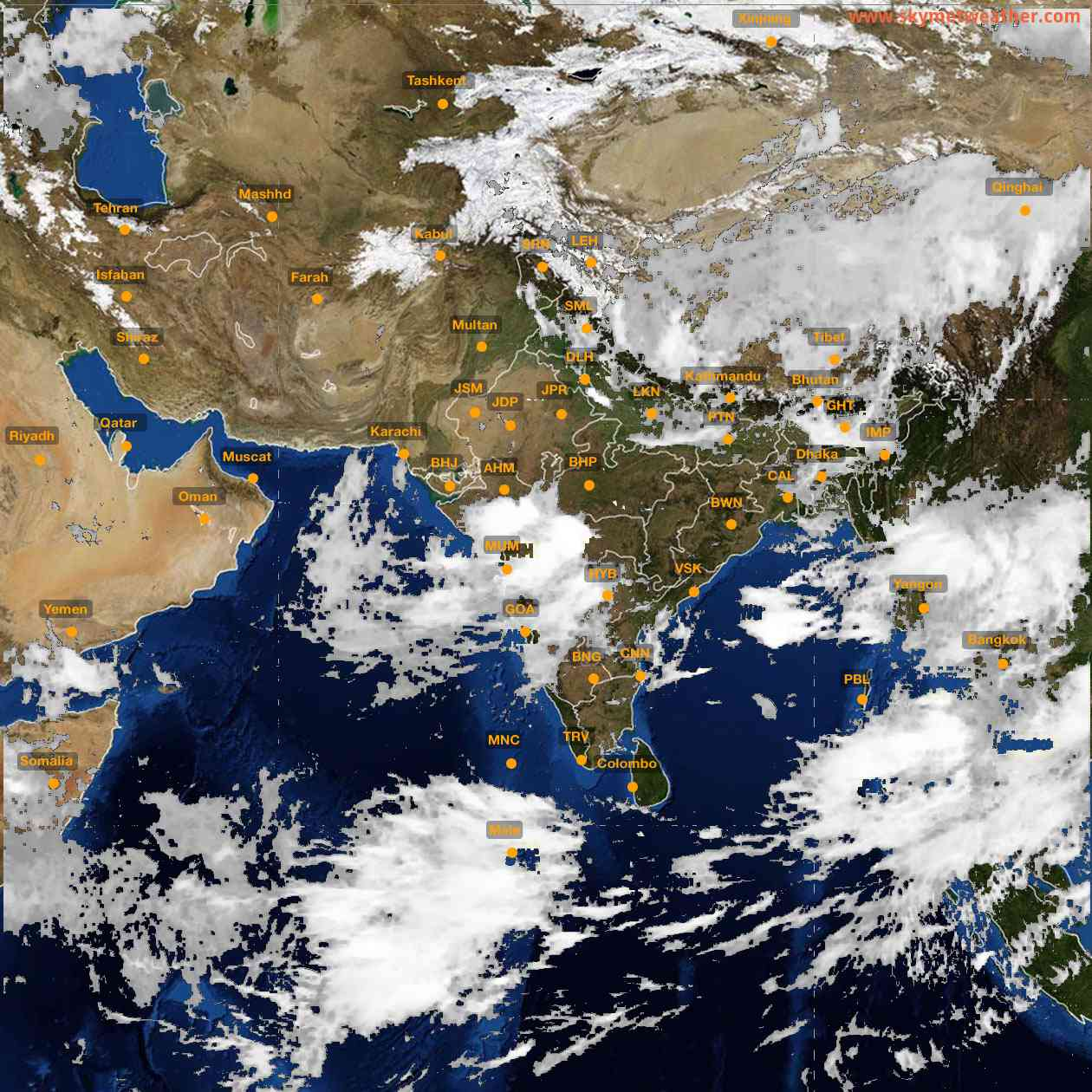 <b style='padding-left:57px;'>09:00</b><br>Satellite Images of India <br>for 25 July 2021