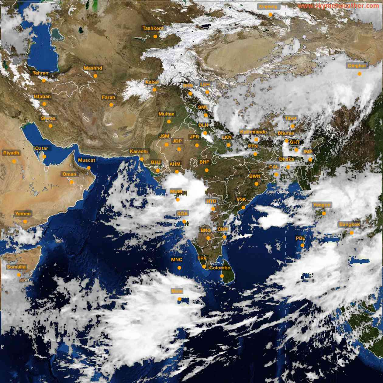 <b style='padding-left:57px;'>10:00</b><br>Satellite Images of India <br>for 25 July 2021