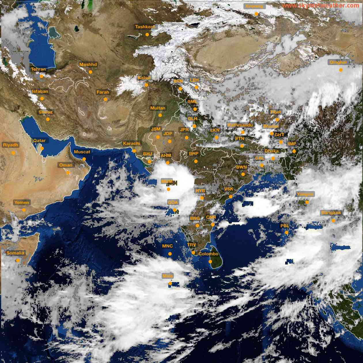 <b style='padding-left:57px;'>12:00</b><br>Satellite Images of India <br>for 25 July 2021