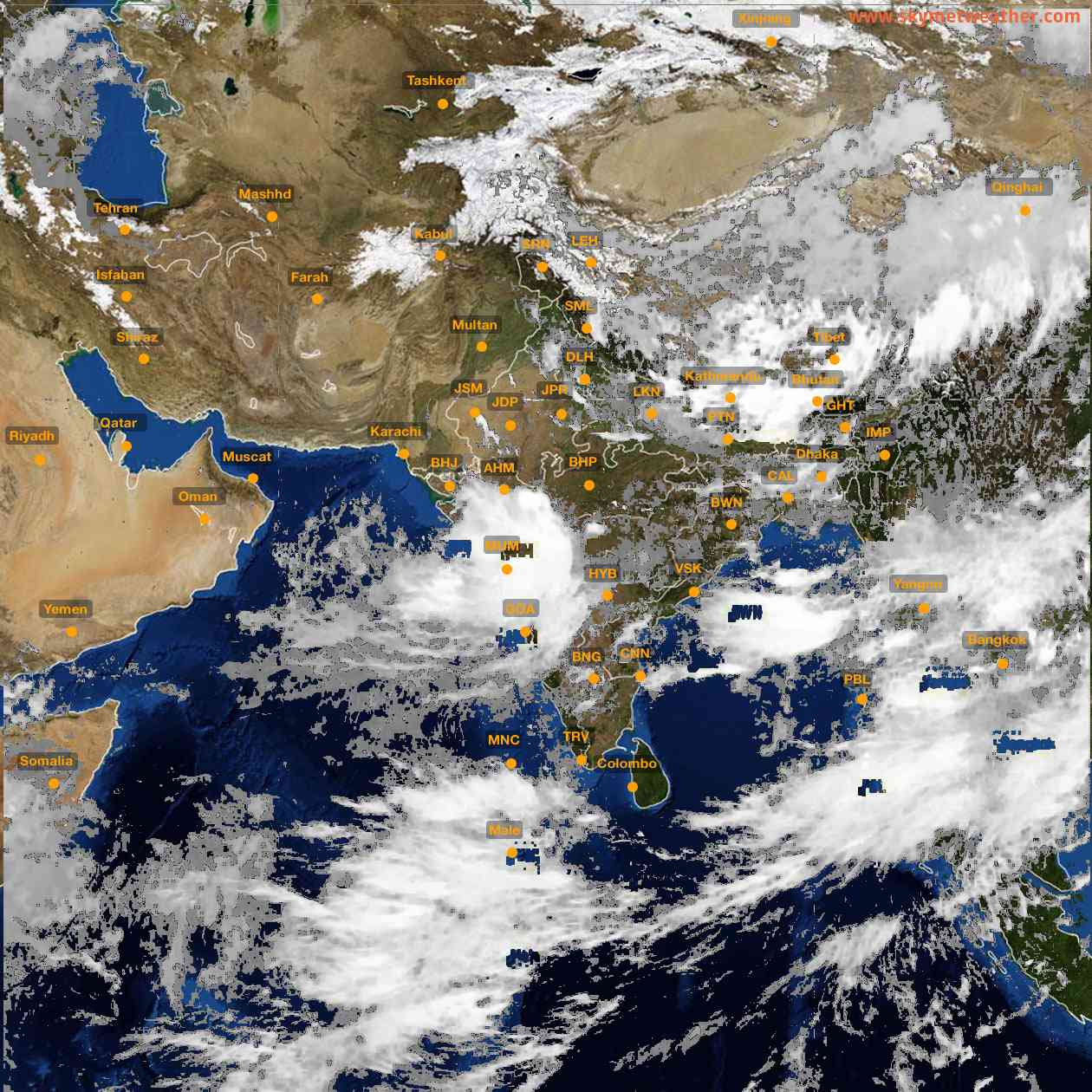 <b style='padding-left:57px;'>14:00</b><br>Satellite Images of India <br>for 25 July 2021