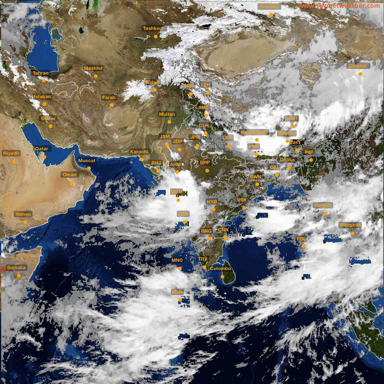 <b style='padding-left:57px;'>15:00</b><br>Satellite Images of India <br>for 25 July 2021