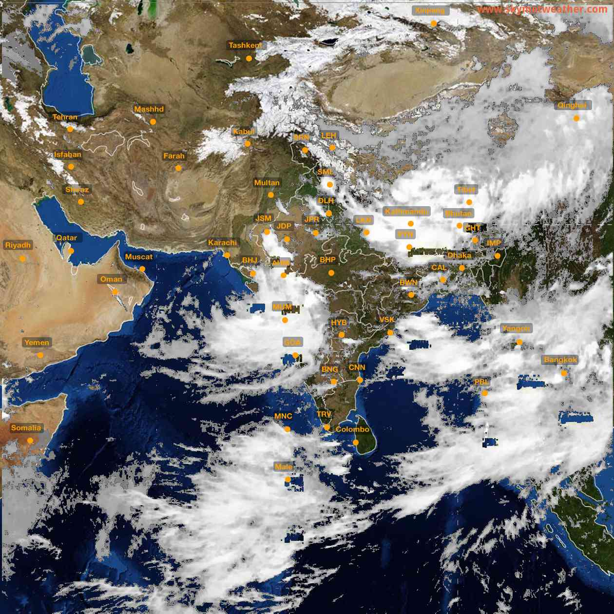 <b style='padding-left:57px;'>17:00</b><br>Satellite Images of India <br>for 25 July 2021