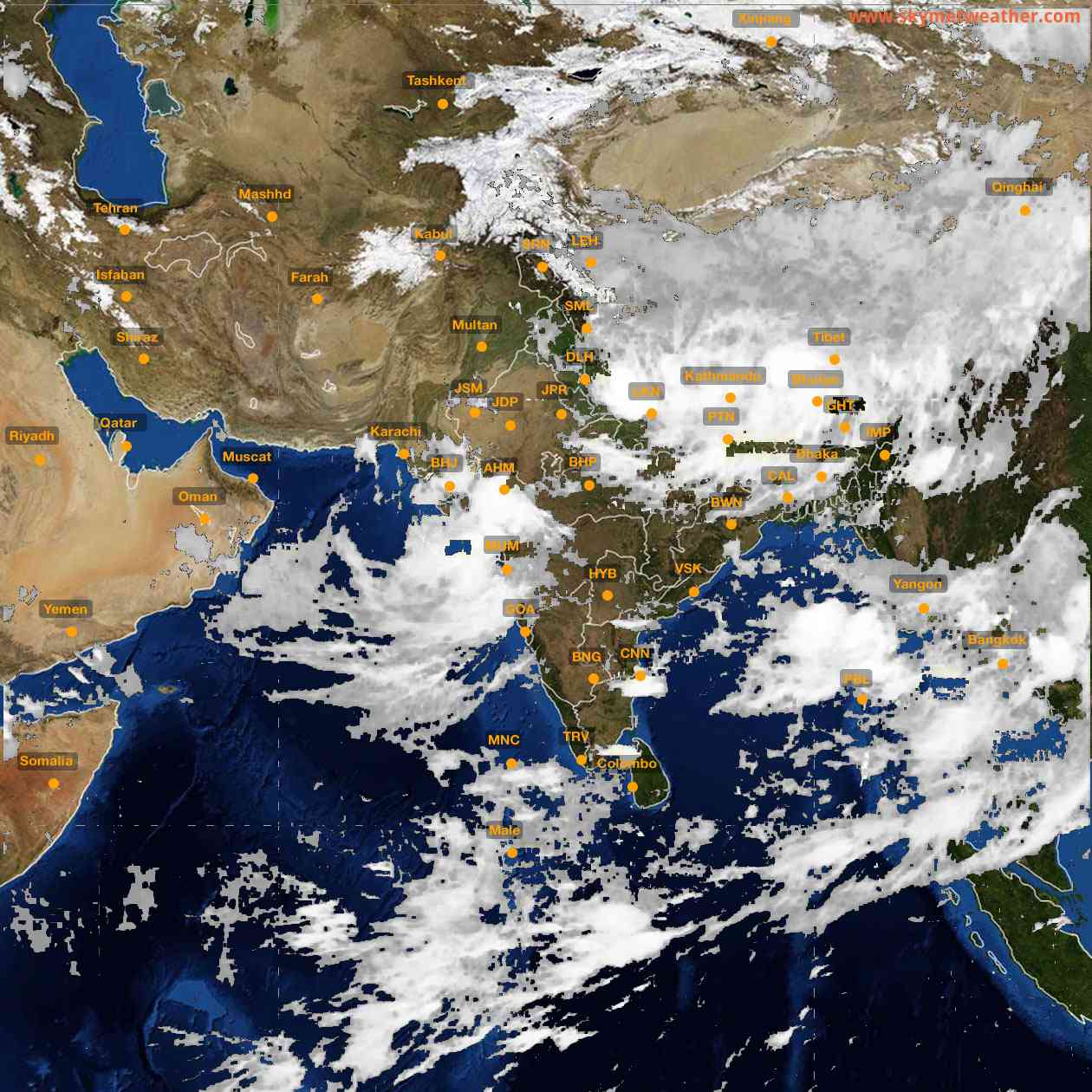 <b style='padding-left:57px;'>00:00</b><br>Satellite Images of India <br>for 26 July 2021