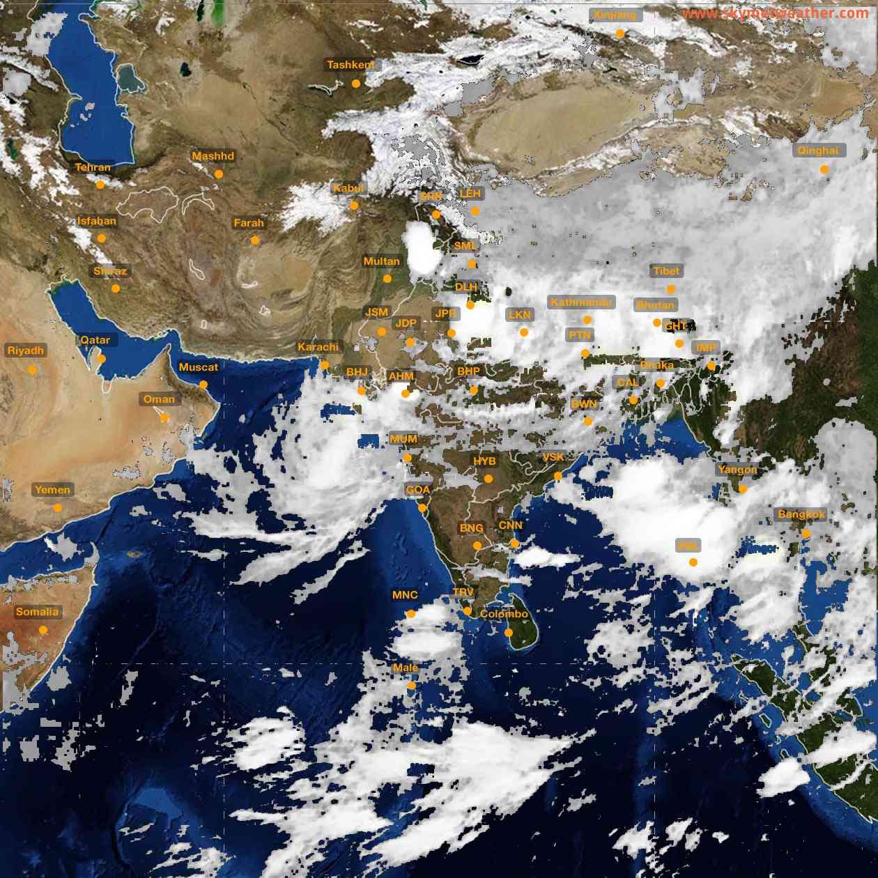 <b style='padding-left:57px;'>05:00</b><br>Satellite Images of India <br>for 26 July 2021