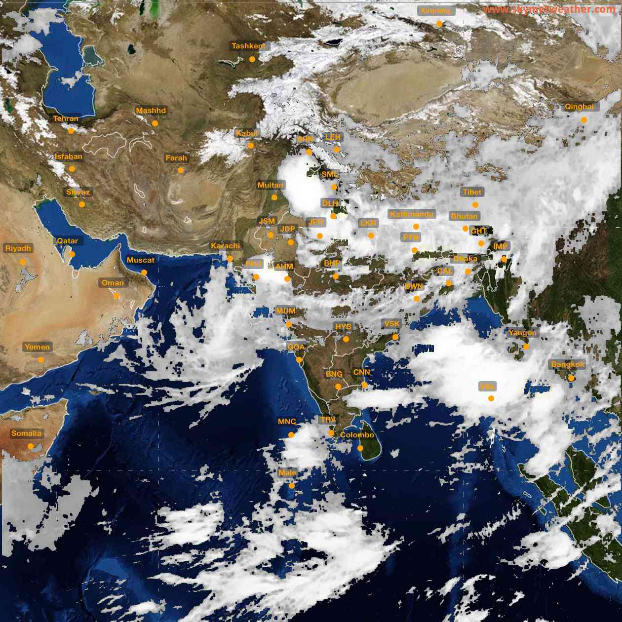 <b style='padding-left:57px;'>08:00</b><br>Satellite Images of India <br>for 26 July 2021