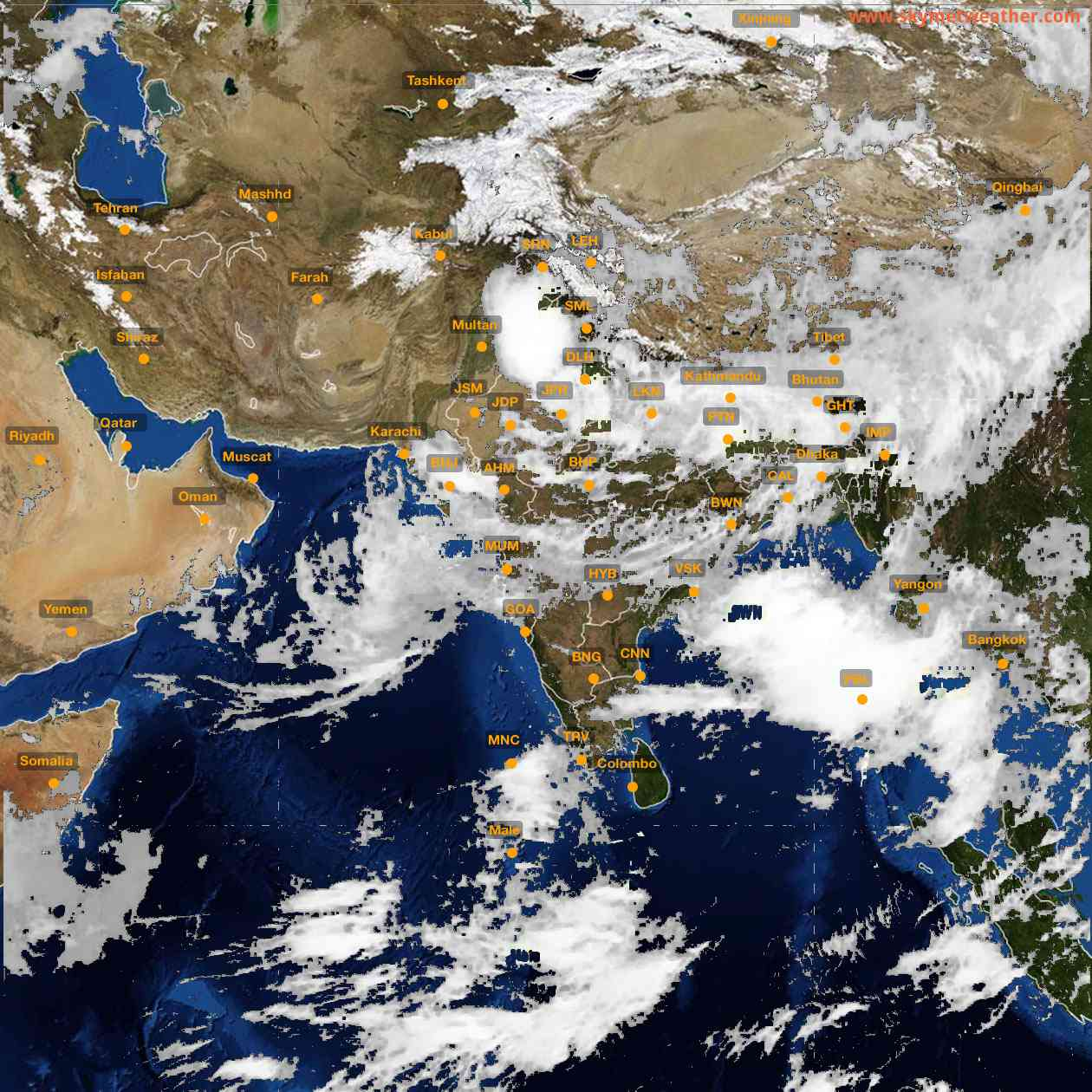 <b style='padding-left:57px;'>10:00</b><br>Satellite Images of India <br>for 26 July 2021
