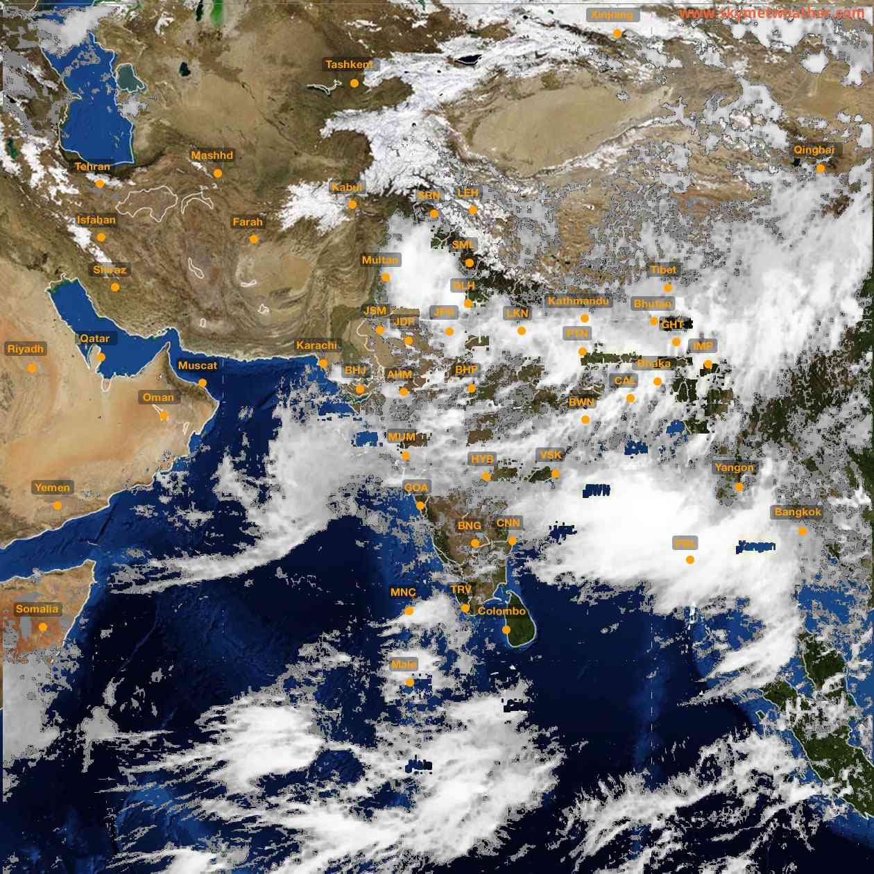 <b style='padding-left:57px;'>13:00</b><br>Satellite Images of India <br>for 26 July 2021