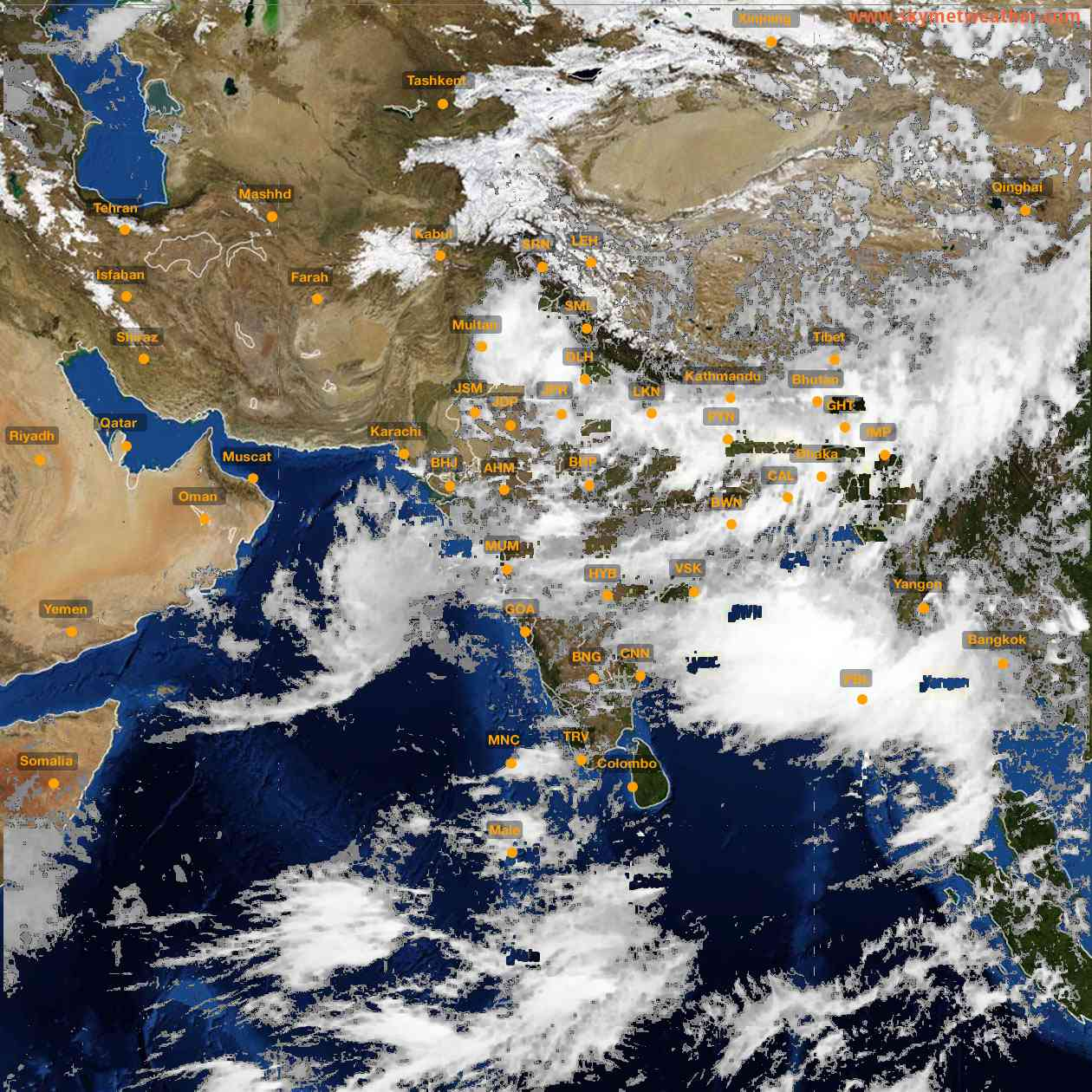 <b style='padding-left:57px;'>14:00</b><br>Satellite Images of India <br>for 26 July 2021