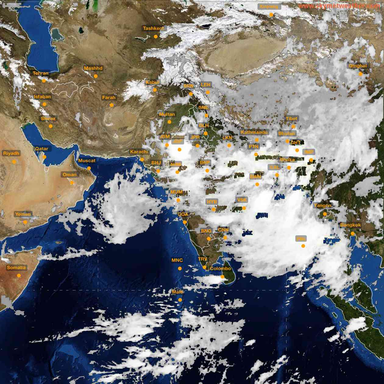 <b style='padding-left:57px;'>21:00</b><br>Satellite Images of India <br>for 26 July 2021
