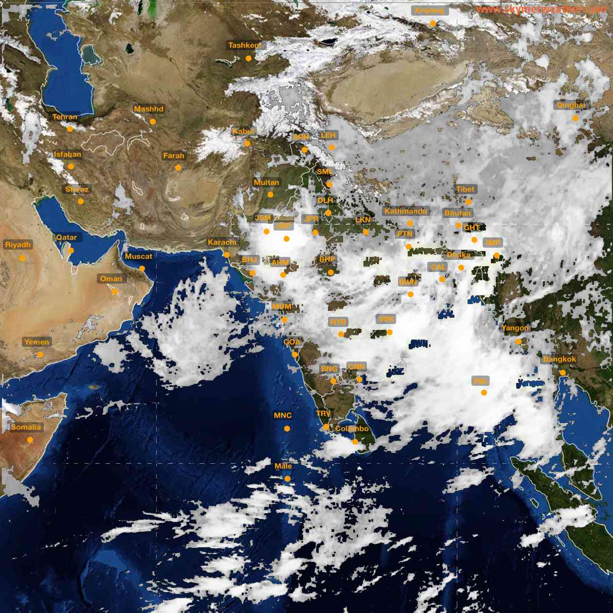<b style='padding-left:57px;'>23:00</b><br>Satellite Images of India <br>for 26 July 2021